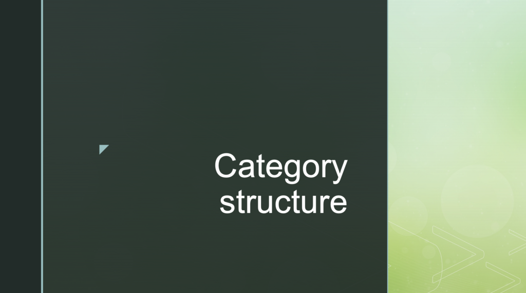 Category structure